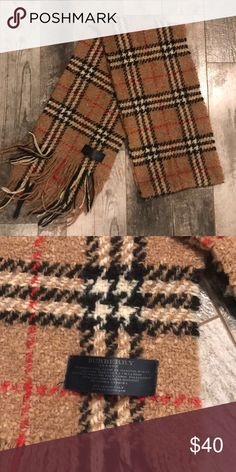 BURBERRY WOOL SCARF 100% original No defects. Excellent condition. Burberry Accessories Scarves & Wraps
