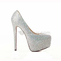 2012 Fall Shining Sheepskin Upper Stiletto Heel Round-toe Wedding Prom Shoes : Tidebuy.com