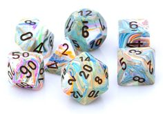 Festive Dice (Vibrant) RPG Role Playing Game Dice Set