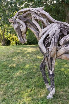 Driftwood horse - by artist Heather Jansch