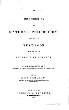 An introduction to natural philosophy : designed as a text-book for the use of students in college