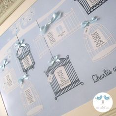 What i will do if the bird cage table plan doesn't work out. Love Birds - Wedding table plan.
