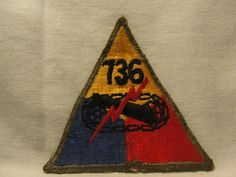 "WW2 WWII US Army Armored 736th Tank Battalion Patch "" The Kid Battalion "" | eBay"