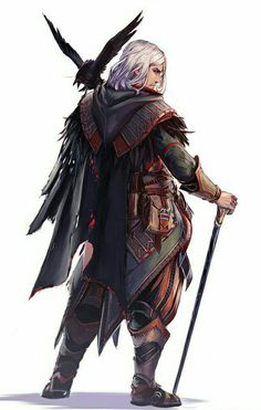 male cane white crow pale ash clothes heavy cane magic melee male