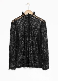 & Other Stories image 2 of Floral Lace Blouse in Black