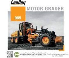 German Gulf Enterprises Ltd, the official distributor for American based road #construction and maintenance #equipment manufacturer – #LeeBoy.  We are exclusive distributor for Oman, Qatar and #UAE.  Since 1964 ,LeeBoy has designed and manufactured asphalt pavers and with addition of Rosco brand in 2001, product line includes motor Graders,#Pneumatic and drum Rollers, multi purpose asphalt maintainers, force feed#loaders, #excavators and #Backhoe loaders.  E-mail:marketing@german-gulf.com