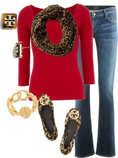 love red and leopard together