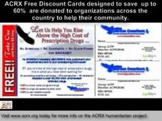 http://www.freediscountprescriptioncards.com -  Free medicine help donated to uninsured Americans by Charles Myrick of American Consultants Rx Inc.