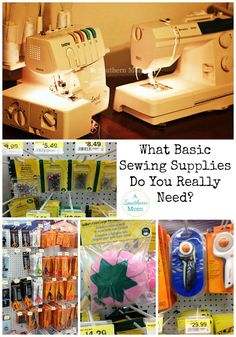 Are you overwhelmed by how to even begin sewing? Maybe you think you need thousands of dollars worth of supplies first? This post breaks down exactly what you need and exactly what you don't. You might just be pleasantly surprised! Sewing Hacks, Sewing Tips, Sewing Lessons, Sewing Class, Sewing Basics, Sewing Tutorials, Sewing Patterns, Basic Sewing, Sewing Machines