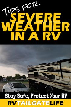 Severe weather is on its way. Are you ready? Remember, it is not safe to be in any type of RV - motorhome, trailer, fifth wheel, schoolie, etc - when a tornado comes through. Find out how to protect yourself and your family, as well as reduce the risk to your RV. Stay safe out there friends! Travel Trailer Living, Travel Trailer Camping, Camping World, Rv Travel, Travel Trailers, Rv Camping Tips, Travel Center, Rv Campgrounds, Electric House