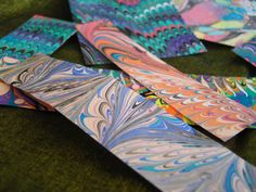 So cool paper marbling
