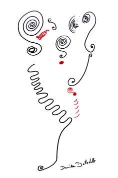 DARTGR1115009 #red #Heart  #Black #love #Minimal #DanielaDallavalle #Grafismi #love #loveistheanswer #ink #sketches #art