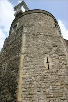 Thomas More's prison cell was the ground floor of the Bell Tower in the Tower of London, where he was imprisoned from April 1534 to July 1535. It had no glass in what served as windows and was directly above the Tower's moat, close to the Thames River. Photograph by Tommy Heyne