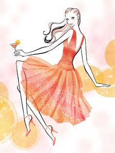 fashion illustration by Rica Kitamura