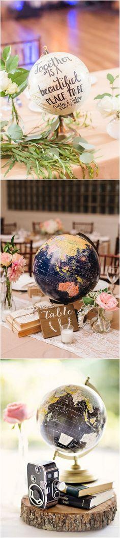 Travel themed wedding ideas #weddingthemes #weddingideas #weddingdecor