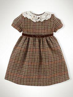 Lana Tweed vestido - Vestidos y mamelucos Muchacha infantil (9M-24M) - RalphLauren.com