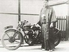 Kenzo Tada, the first Japanese at Isle of Man TT in 1930 on Velocette