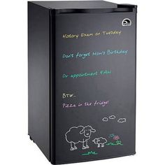 Igloo Eraser Board Refrigerator, 3.2 cu ft, Black
