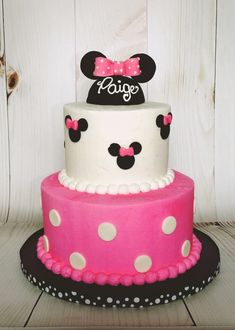 Minnie Mouse Birthday Cake- so sweet! Minnie Mouse Birthday Cakes, Sweet, Desserts, Birthday Ideas, Food, Red Roses, Candy, Tailgate Desserts, Deserts
