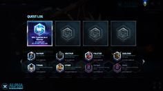 Heroes of the Storm: Blizzard - UI, Interface Art, Game UI, Game Art, HUD
