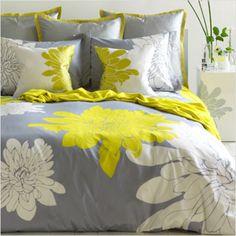 Yellow Bedding Sets For Baby Bed — Leea Harris Design King Duvet Set, Queen Duvet, Comforter Sets, Home Bedroom, Bedroom Decor, Bedrooms, Gray Bedroom, Bedroom Colors, Master Bedroom