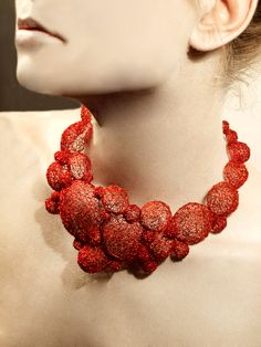 NIIRO jewelry red bubble necklace