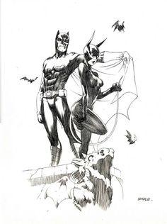 Batman & Catwoman by: Bengal