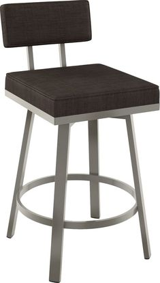 For extra seating in your kitchen or your home bar, grab the Staten Metal Barstool from Amisco. With a padded seat and back, it keeps your seating comfort in mind. Add to your modern decor and use as extra seating when visitors stop over.
