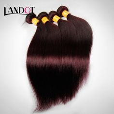 7A Burgundy Malaysian Virgin Hair Straight 100% Human Hair Weave Bundles Extensions Wine Red 99J Color 3Pcs Lot Soft Tangle Free