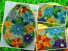 QUILLING WIELKANOC Quilling, Pot Holders, Easter, Crafts, Art, Bedspreads, Art Background, Manualidades, Hot Pads