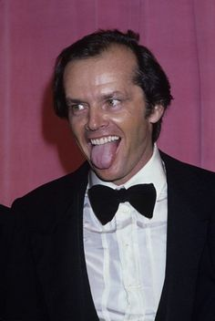 Jack Nicholson pure craziness in a tux Jack Nicholson, Hollywood Actor, Hollywood Stars, Hollywood Actresses, You Don't Know Jack, Coppola, Le Cri, Here's Johnny, Idole