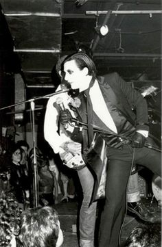 UK punks The Damned, onstage at CBGB in 1977.