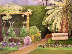 Garden diorama on The Loop