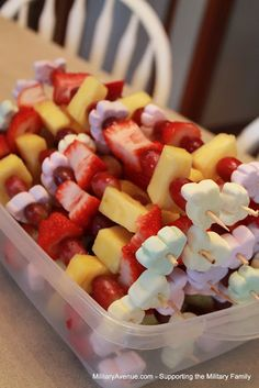 Military-Family Blog from MilitaryAvenue.com: Perfectly Sweet Healthy Birthday Snack