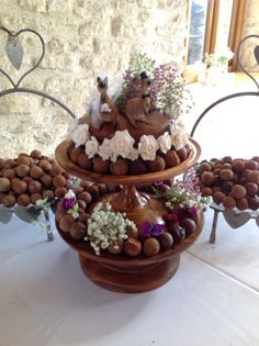 We love this alternative idea for a wedding cake Kangaroo Truffles @ TheKingscoteBarn