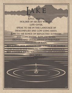 Lake Prayer Poster Size Wicca Pagan Witch Witchcraft Goth Book of Shadows Water Witch, Sea Witch, Wiccan Spells, Wiccan Magic, Healing Spells, Wiccan Witch, Magic Spells, Healing Herbs, Spiritus