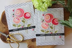 Nichol Spohr LLC: Simon Says Stamp | Watercolored Scribble Flowers Cards