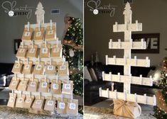Those cheap calendars filled with waxy, tasteless chocolate are about to become a thing of the past. Clay Christmas Decorations, Easy Halloween Decorations, Easy Christmas Crafts, Christmas Candles, Simple Christmas, Christmas Holidays, Modern Christmas, Scandinavian Christmas, Christmas Trees