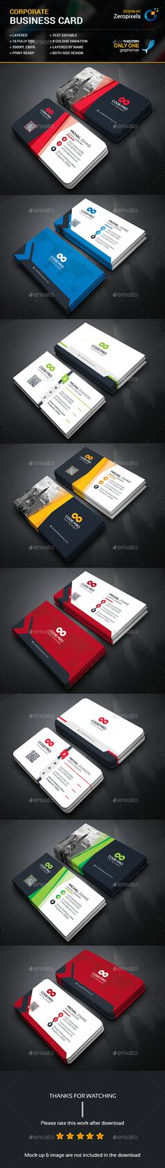 Corporate Business Card Templates PSD Bundle