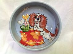 Dog Bowl 10 Dog Bowl for Food or Water Personalized at no Charge Signed by Artist Debby Carman * Find out more about the great product at the image link.(This is an Amazon affiliate link and I receive a commission for the sales)