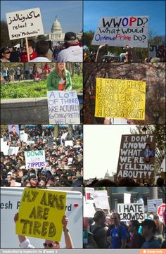 Epic protest signs