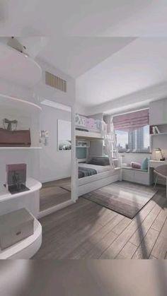 Small Room Design Bedroom, Small House Interior Design, Kids Bedroom Designs, Bedroom Closet Design, Bedroom Furniture Design, Home Room Design, Bedroom For Kids, Small Girls Bedrooms, Interior Design Videos