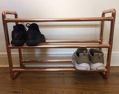 3 tiercopper copperpipe copper fittings urban shoe rack
