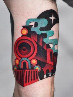 4a4c4e235 David Cote train Tattoo Autism Tattoos, Beautiful Tattoos, Cool Arm Tattoos,  Incredible Tattoos