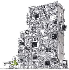 SPOTIFY EDITORIAL FOR DAGENS NYHETER | Sweden, Sigtuna-based freelance Illustrator Mattias Adolfsson