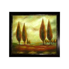 Huge Cypress Trees In Sunrise Landscape Oil Painting by MyLillWork, $95.00