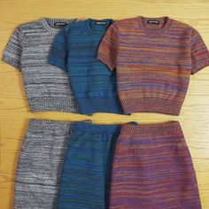 New multicolored knits.