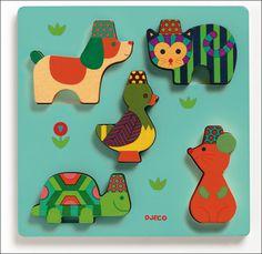 #Puzzle #wood #Yuko by #Djeco from www.kidsdinge.com  https://www.facebook.com/pages/kidsdingecom-Origineel-speelgoed-hebbedingen-voor-hippe-kids/160122710686387?sk=wall