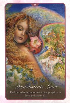"""""""48 Demonstrate Love 2"""" Oracle Cards Whispers of Love par Josephine Wall and Angela Hartfield"""