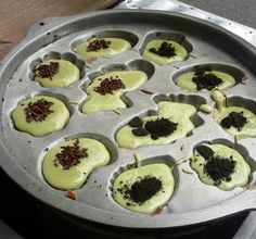 Kue cubit green tea oreo